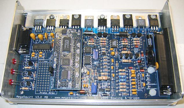 MS2 ECU Assembled with open case