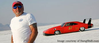 Lee Sicilio with his 283mph Daytona Charger
