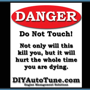 "DIYAutoTune.com ""Danger"" Decal - 4"" x 3.33"""
