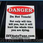 "DIYAutoTune.com ""Danger"" Decal - 6"" x 5"""