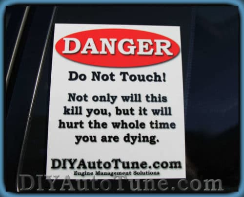"DIYAutoTune.com ""Danger"" Decal - 6"" x 5"""