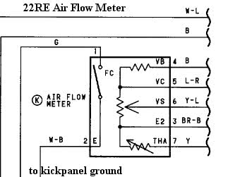 22RE Air Flow Meter how to megasquirt your toyota 22re diyautotune com 91 toyota 22re wiring diagram at edmiracle.co