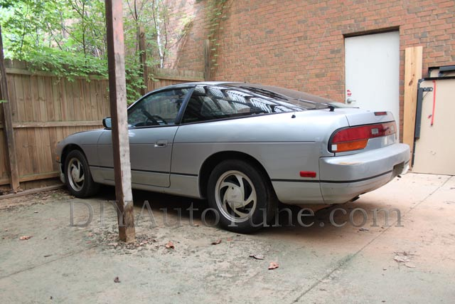Bone stock nissan 240sx found as our base car