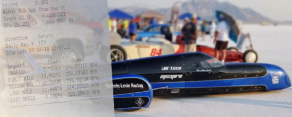 Guthrie-Levie MS3Pro Ultimate Streamliner Sets 320mph Record