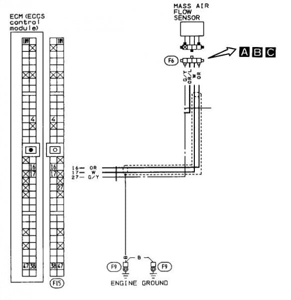 94 sentra maf 581x600 diypnp documentation for 1989 1990 nissan 240sx diyautotune com 89 nissan 240sx wiring diagram at bayanpartner.co