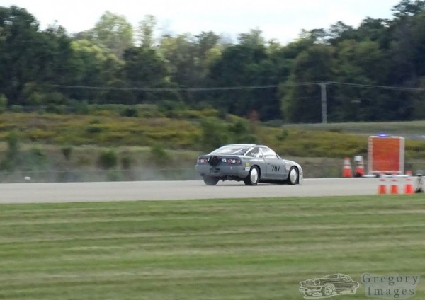 Jerry Hoffmann breaking land speed records at the Ohio Mile in his MS3-Pro 2JZ Nissan 240sx