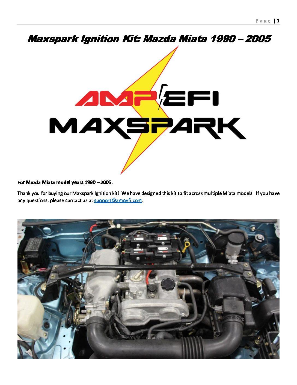 MaxSpark PNP Ignition Kit for 1990-2005 Mazda Miata