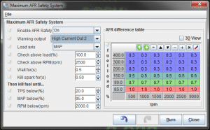 MS3Pro AFR Safety settings