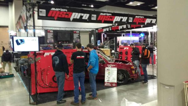 Our booth at PRI