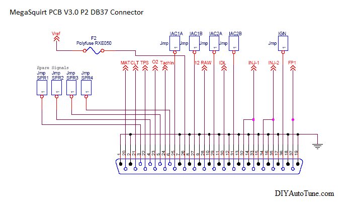 megasquirt db37 connector, grounds, and you diyautotune com CA18DET Wiring-Diagram at Ms3 Pro Wiring Diagram