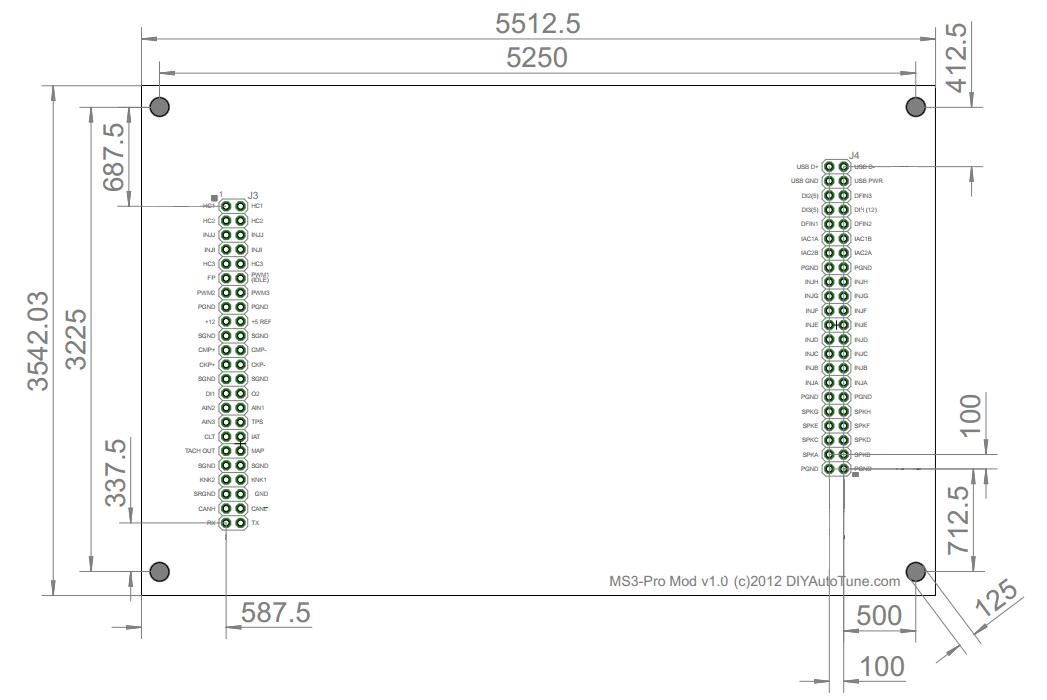 MS3-Pro Module dimensions