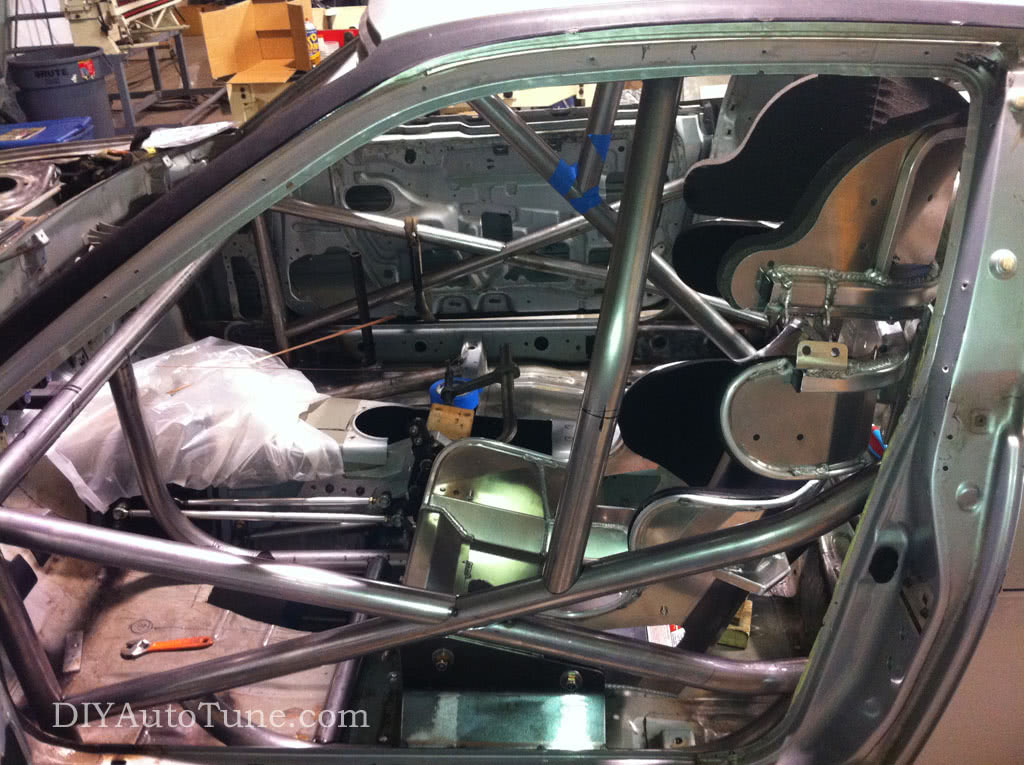 DIYAutoTune's 240sx Land Speed Car - Cage-Seat-Pedals