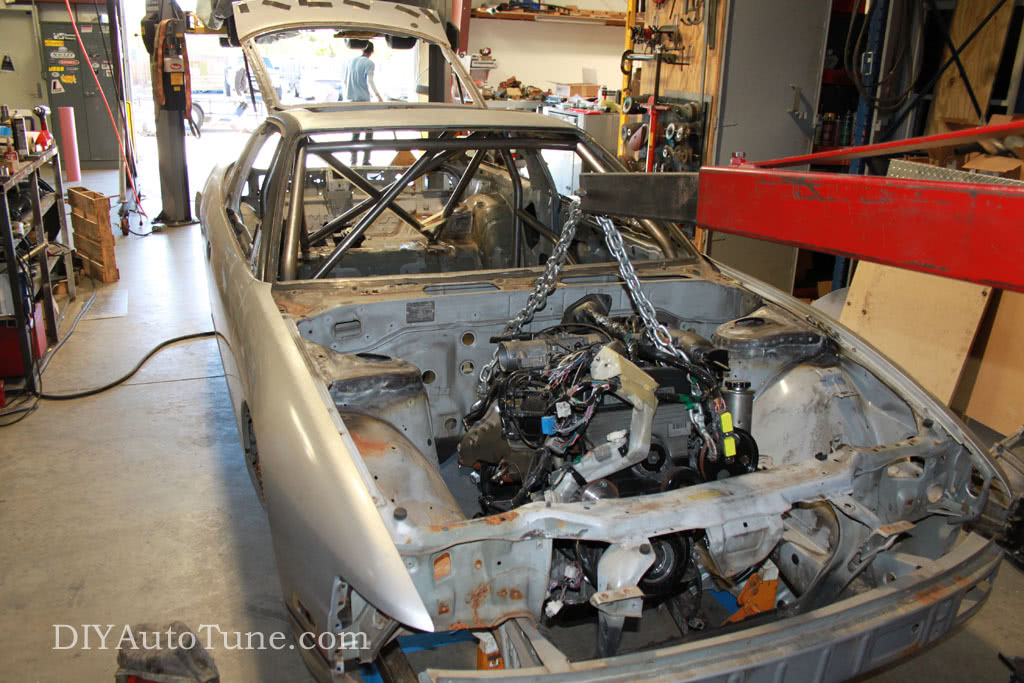 DIYAutoTune Land Speed 240sx Engine Test Fit