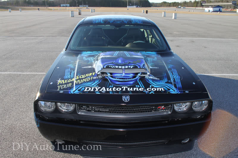 2009 Drag Pack Challenger with DIYAutoTune logo