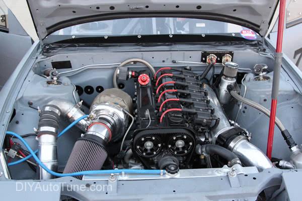 jerry hoffmann diyautotune land speed s13 240sx engine bay 2jzgte 2jz turbonetics turbo ign1a coils