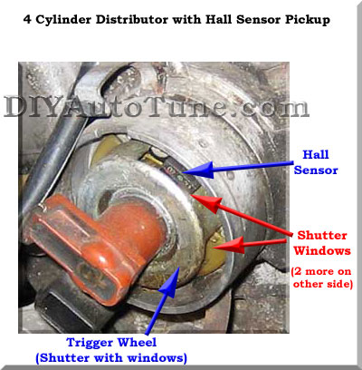 4 Cylinder Distributor with Hall Sensor Pickup
