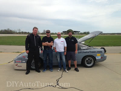 Driver and Crew: Left to Right Jerry Hoffmann, Torrey Colley, John Black, and Ben Berusch