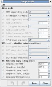 MS3Pro limp home mode settings