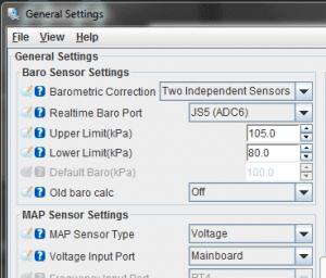 Basic / Load Settings -> General Settings