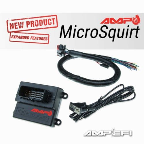 AMP'd Microsquirt with flying lead harness and serial tuning cable