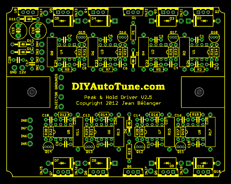 Peak and Hold Injector Driver Board layout