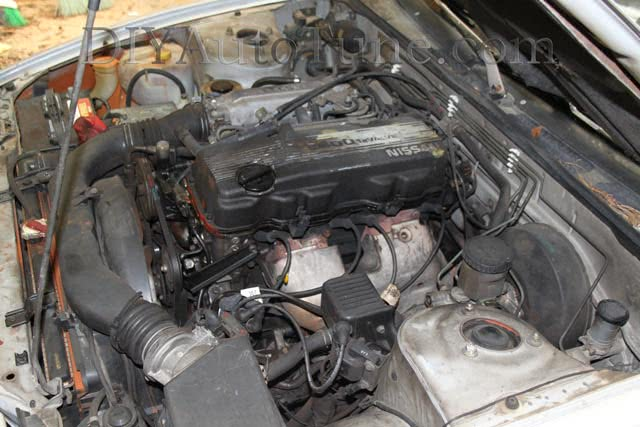 Stock ka24e motor in our Nissan 240sx
