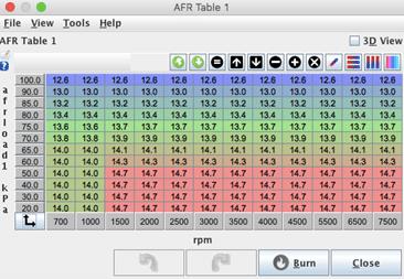 Linfert Blog - Tunerstudio MegaSquirt Tuning Software AFR Table 2