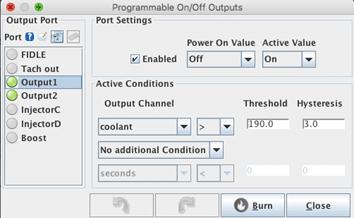 Linfert Blog - Tunerstudio MegaSquirt Tuning Software Programmable On Off Outputs